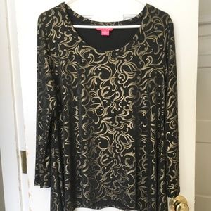 WOMEN'S Sunny Leigh Shimmery Blouse SIZE XL